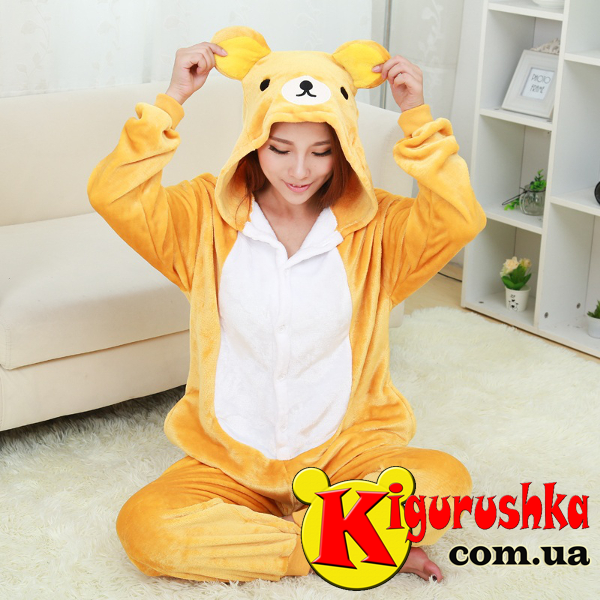 Кигуруми пижама для взрослых. Мишка Rilakkuma a723293c1f3fb