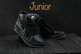 Кеды CrosSAV 35 (Nike) (зима, подростковые, натуральная кожа, синий)