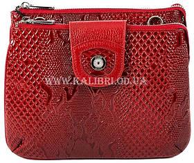 Розпродаж! Жіночий шкіряний червоний клатч Karya під рептилію 0681-019 Туреччина