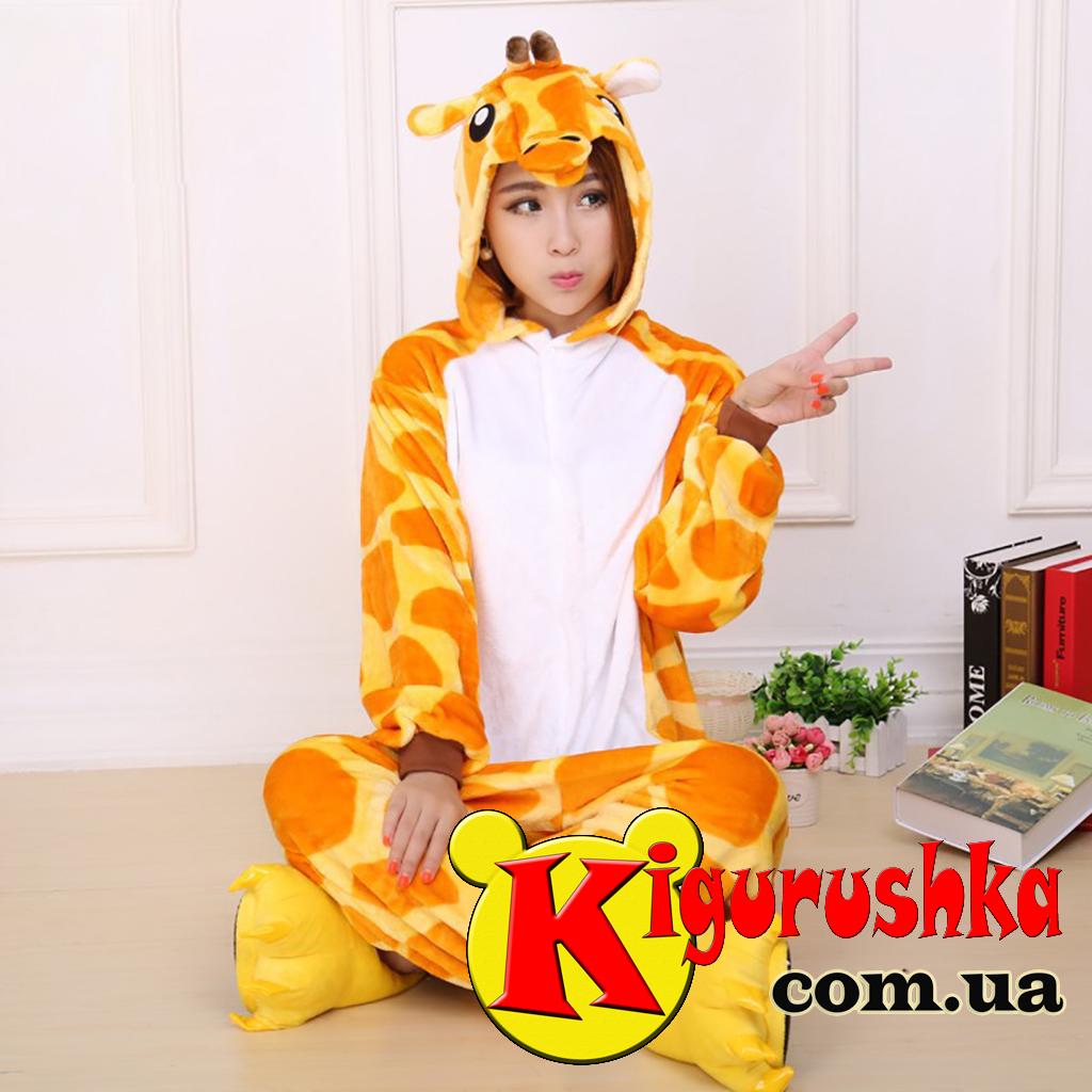 Костюм в виде животного Жираф кигуруми для взрослых - Интернет-магазин