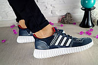 Кроссовки Classik 7322 (Adidas Brand) (весна-осень, женские, кожа комбинированная, синий)
