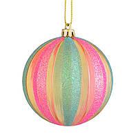 "Новогодний шар ""Мармелад"",многоцветный d-8 см."