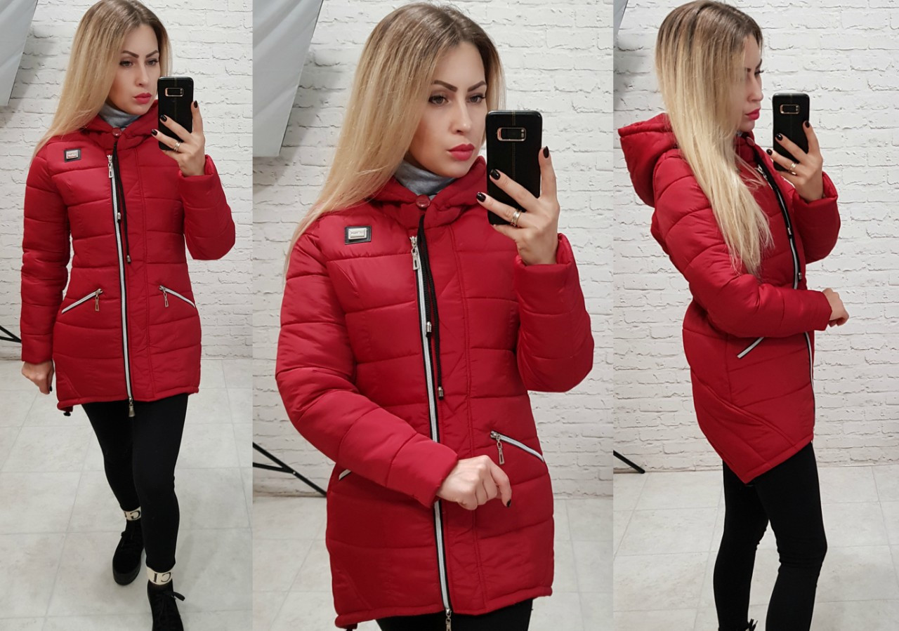 Куртка парка зима, арт  204, красный