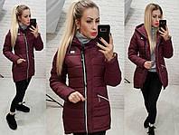 Куртка парка зима, арт  204, бордо, фото 1