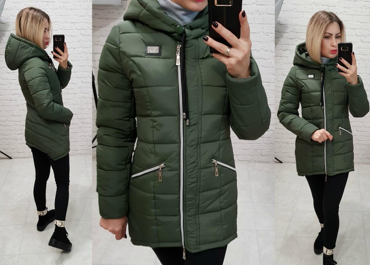 Куртка парка зима, арт  204, хаки