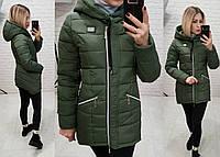 Куртка парка зима, арт  204, хаки, фото 1