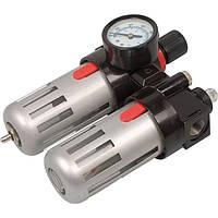 Фильтр воздушный с редуктором, со смаз.прибором и манометром  3/8', MIOL 81-430