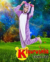 Костюм пижама фиолетовый Единорог радужный кигуруми для взрослых 0a081a6abc54a