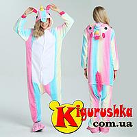 Единорог - Светлая радуга  пижама кигуруми для взрослых