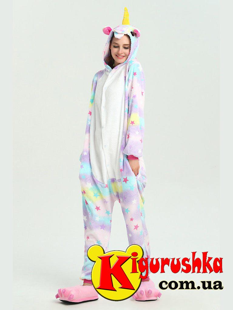 Пижама Звездный Единорог кигуруми для взрослых - Интернет-магазин