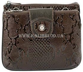 Розпродаж! Жіночий шкіряний коричневий клатч Karya під змію 0681-015 Туреччина