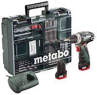 Аккумуляторный шуруповерт Metabo PowerMaxx BS  с набором Mobile Workshop