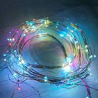 Новогодняя cветодиодная гирлянда проволка от сети LED 180 , фото 1