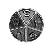 Тисненый стальной 7 шт. Многогранный Кости Многогранный многогранник Кости Набор C Сумка 1TopShop, фото 3
