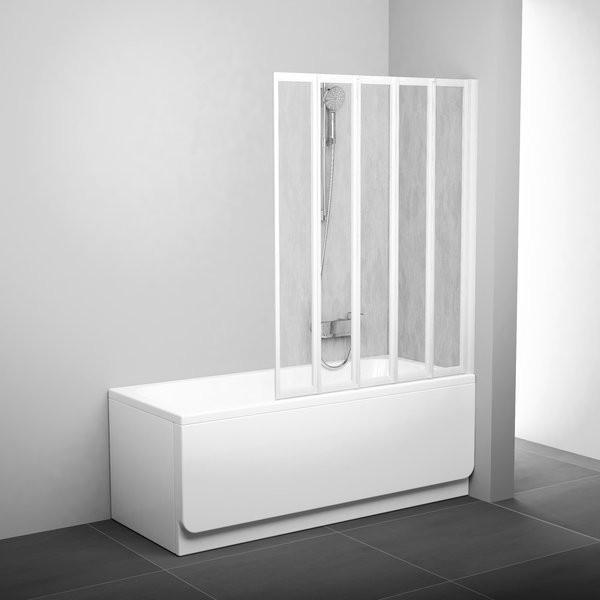 Штора для ванны пятиэлементная VS5 113,5 см Ravak