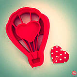 Вырубка для печенья воздушный шар с сердцем от OogiMe, фото 2
