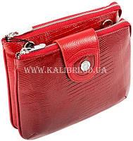 Распродажа! Женский кожаный красный клатч Karya под рептилию 0681-074 Турция, фото 2
