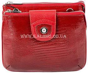 Розпродаж! Жіночий шкіряний червоний клатч Karya під рептилію 0681-074 Туреччина