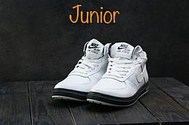 Кеды CrosSAV 57 (Nike) (зима, подростковые, натуральная кожа, белый)