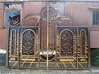 Ворота распашные (прозрачные,полупрозрачные ,глухие)