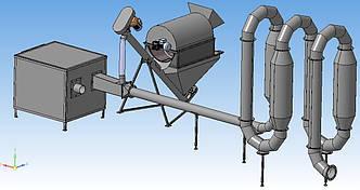 Аэродинамическая сушка для тырсы СА-400
