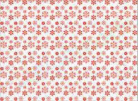 Фетр с принтом СНЕЖИНКИ СВЕТЛО-КРАСНЫЕ, 22x30 см, корейский мягкий 1.2 мм