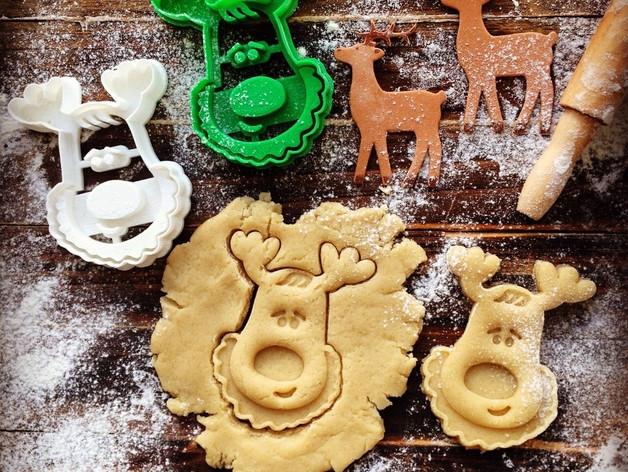 Новогодняя вырубка для печенья снеговик от OogiMe