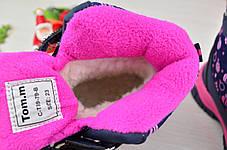 Термо ботинки детские зимние на  меху на девочку синие 30 размер, фото 2