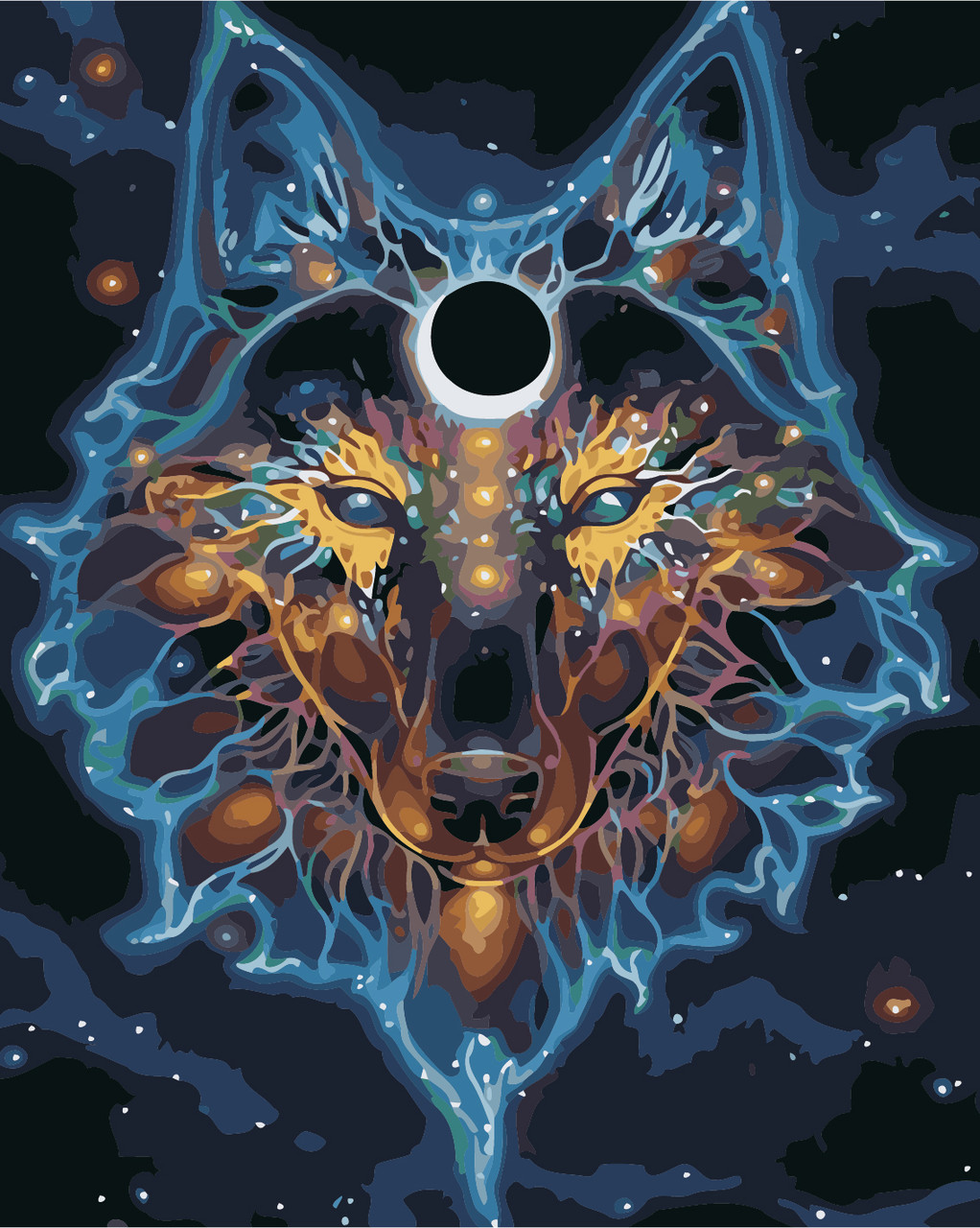 "Картина по номерам ""Созвездие волка"" 40*50см: продажа ..."