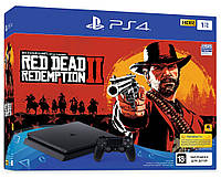 Игровая приставка Sony PlayStation 4 Slim 1TB + игра Red Dead Redemption 2