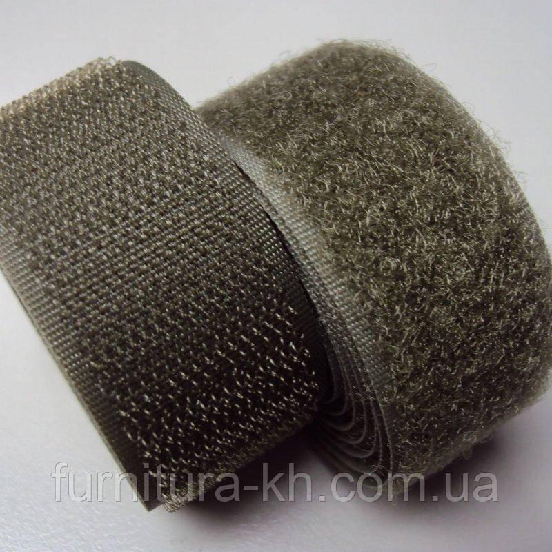 Липучка(Текстильная застёжка) 2 см черная в рулоне 25 метров