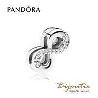 Pandora шарм-клипса СИМВОЛ БЕСКОНЕЧНОСТИ REFLEXIONS #797580CZ серебро 925 Пандора оригинал