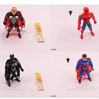 Супергерой 18см, 4вида(СП, AV, BM), свет, батар., в пак.9*18*3см (360шт)