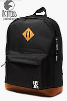 Рюкзак (Однотонный) Черно-коричневый