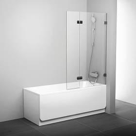 Штора для ванны двухэлементная с подвижной частью BVS2 100 см Ravak