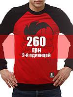 """Свитшот """"East"""" (Весенний) Черно-красный, фото 1"""