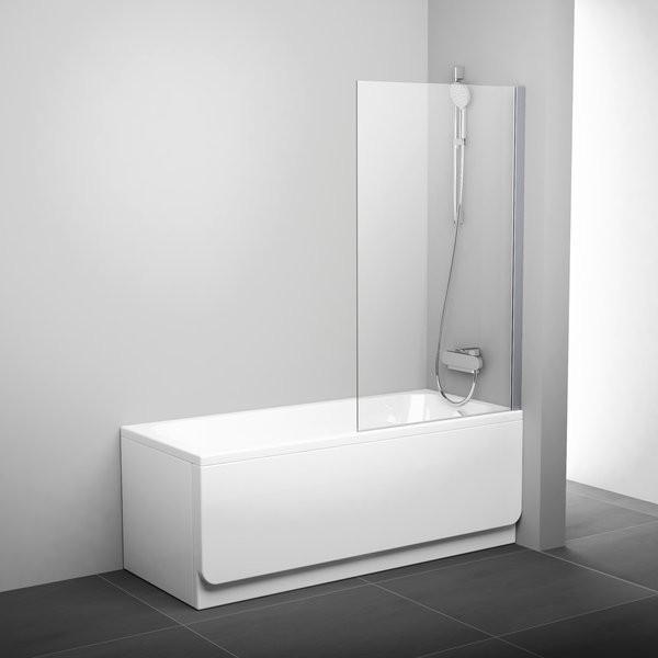 Штора для ванны неподвижная одноэлементная PVS1 80 см Ravak