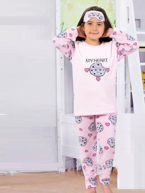 474d4217d6b4 Махровая тёплая детская пижама Турция для девочки — купить недорого ...