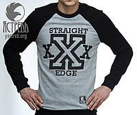 """Свитшот """"Straight Edge"""" (Весенний) Черно-серый, фото 1"""