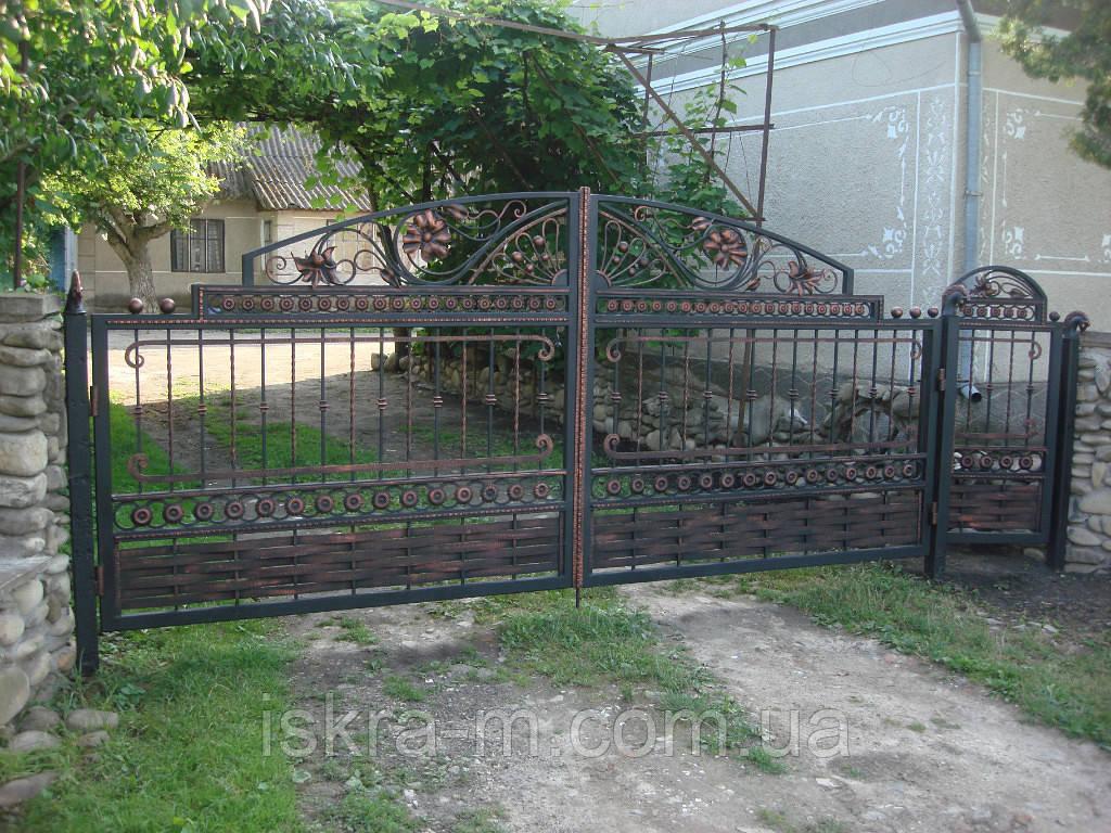 Ворота распашные прозрачные