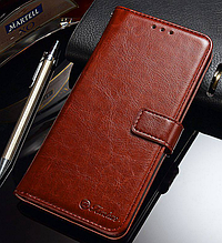 Кожаный чехол-книжка для Xiaomi Mi A2 Lite/ Redmi 6 Pro коричневый