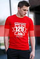 "Футболка ""Straight Edge"" Красный, фото 1"