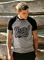 "Футболка ""Yastreb Brand"" Черно-серый, фото 1"