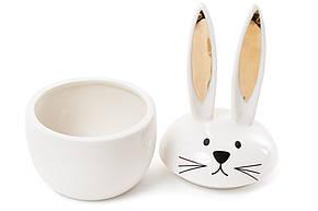 Шкатулочка фарфоровая Кролик с золотыми ушками 18,5см (727-139), фото 2