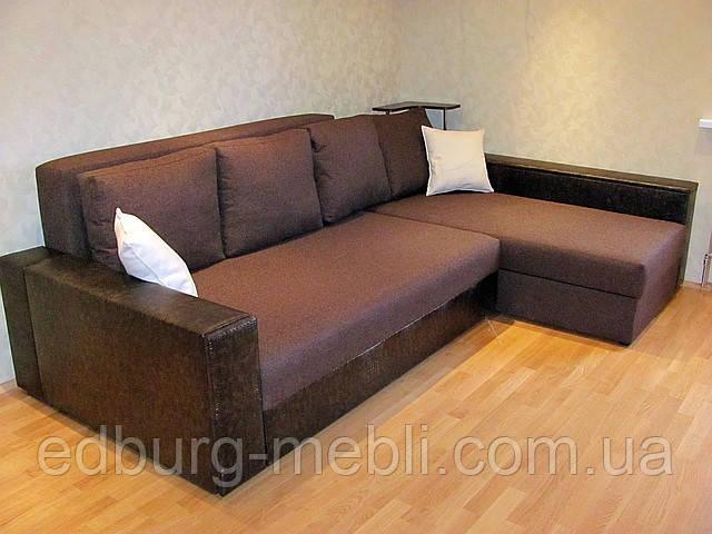 Угловой диван еврокнижка с полочкой