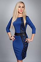 Платье женское мод. №221-1.размер 40,44 электрик