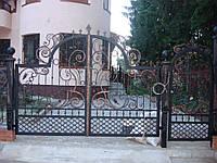 Ворота кованые прозрачные