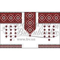 Блузка детская (заготовка) БД038кБ40 атлас-коттон (белый) Барвиста Вишиванка 44c8bc4097629