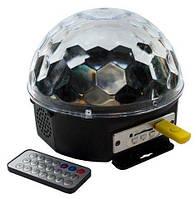 Светодиодный диско-шар Magic Ball LED MP3 + пульт, фото 1