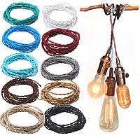 Марочные 10m 2 сердечника твист плетеный ткани кабель провод электрический провод освещения-1TopShop